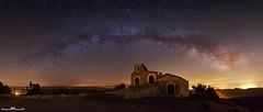 Ermita de los Mártires (www.jorgelazaro.es) Tags: nocturna cielo noche mártires milkyway estrellas ermita abdón víaláctea senén pedraseca milky paisaje camporrélls aragón españa es