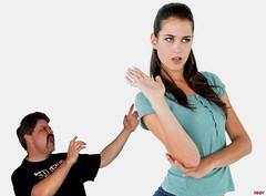 Dismisses little dad (iggy62pop2) Tags: giantess shrinkingman sexy tallwoman angry tiny man minigiantess pretty babe breasts brunette upskirt hands
