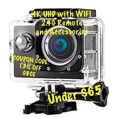 Bring all your adventures home with this great 4K UHD WIFI action camera that comes with a 2.4G remote and all the accessories you need for any adventure. Captures images and video in 720p, 1080p, 2.7K and 4K quality with a click of the remote or your pho (Ontario_BWO) Tags: instagramapp square squareformat iphoneography uploaded:by=instagram