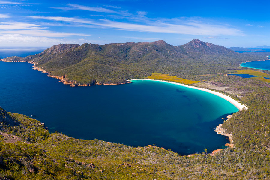 Wineglass Bay in Tasmania is considered one of the top ten beaches in the world