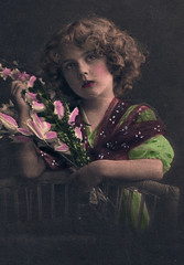 Girl With Flowers (pepandtim) Tags: postcard old early nostalgia nostalgic girl flowers photogravure series alfred stiebel london england printed 12081913 1913 29gwf32 birtles ringwood road eastbourne doreen prettiest card baby smuts cold beattie ted brand name oreo registered united states patent trademark office national biscuit company nabisco cookies