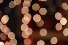 Christmassy light blobs.