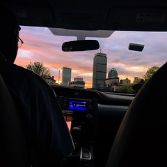 Uber Sunrise #Boston #commute #skyline (BradKellyPhoto) Tags: commute skyline boston