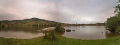 La Charca del Cura. (Amparo Hervella) Tags: embalsedelacharcadelcura ávila españa spain paisaje agua nube reflejo atardecer roca naturaleza panorámica largaexposición d7000 nikon nikond7000 comunidadespañola