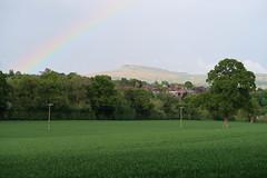 Clee rainbow (Badly Drawn Dad) Tags: gbr ludlow shropshire unitedkingdom ludford geo:lat=5236208822 geo:lon=271494268 rainbow geotagged titterstonecleehill