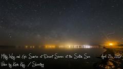 Desert Shores Milky Way Thru Sunrise Time Lapse (slworking2) Tags: saltonsea desertshores california desert lake milkyway sunrise moon timelapse
