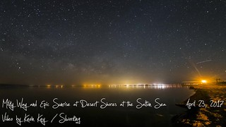 Desert Shores Milky Way Thru Sunrise Time Lapse