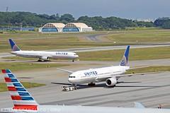 N76054 (renanfrancisco) Tags: ual ua united unitedairlines boeing boeing767 767400 767 boeing767400 staralliance landing pouso gru gruairport sbgr guarulhosairport morrinho aeroporto airport airlines aeropuerto spotting n76054