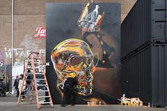 King Skull Graffiti by Fanakapan (Ben den Hartog) Tags: graffiti graffitimural graffitiartist mural muurschildering kings spray nsdm wharf werf amsterdam fanakapan streetart streetartist straatkunst straatkunstenaar urban urbanart urbanwall