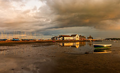 Stranded (Anthony White) Tags: unitedkingdom gb christchurch dorsetuk dinghy clouds low tide sailing highcliffesailingclub