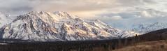 Glenn Highway view (frostnip907) Tags: alaska goldenhour mountains alpenglow panorama