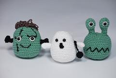 Monstruos halloween (La Borda del Crochet) Tags: amigurumis ganchillo dropssafran algodón crochet handmade halloween monstruos