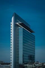 Frankfurter Ansichten XIX (Schermannski) Tags: skyscraper skyline frankfurt hessen hochhaus blue