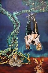 Tel est pris qui croyait prendre (HBA_JIJO) Tags: streetart urban graffiti stencil paris animal art france artist hbajijo wall mur painting spray pochoiriste urbain adey lapin rabbit peintue pendu