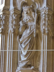 St Edmund (Aidan McRae Thomson) Tags: worcester cathedral worcestershire medieval carving statue sculpture