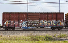 (o texano) Tags: houston texas graffiti trains freights bench benching gimer rtl