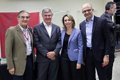 Dalton Pastore (presidente da ESPM), Caio Barsotti (presidente do Cenp), Patricia Blanco (presidente do Palavra Aberta) e Ricardo Gandour (diretor executivo da Rádio CBN)