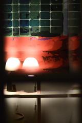 Reflecting - Day 278 (wiedenmann.markus) Tags: light reflection lamp inside art modern interior design painting glas evening dawn shafe