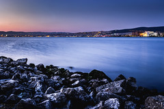 Thessaloniki (konstantinos.arvanitis) Tags: thessaloniki landscape seascape water outdoor hdr longexposure rocks cities cityscape