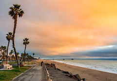 Huntington Beach (meeyak) Tags: hb huntingtonbeach california oc orangecounty westcoast usa landscape seascape beach ocean clouds cloudy meeyak sony a6000 sonyalpha view running lifeguardtower path hbpier pier birds adventure travel vacation outdoors overcast sunset