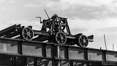 Chariot rouillé (Sylvain Abdoul Photographie) Tags: abandonnée blackandwhite flickr fricheindustrielle guadeloupe2017 noiretblanc rouillé petitcanal