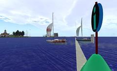 IF@FIYC - Barely 1 boat length.. (vivipezz) Tags: secondlife sailing sl fiyc bandit if racing