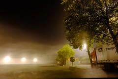 Aire d'autoroute (Max Sat) Tags: autoroute black brume camion france fuji fujixe1 fujinon highway lumière maxsat maxwellsaturnin mist night nuit truck xf14 unexplored wideangle