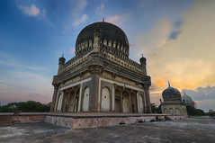The Tombs and the Glorious Sunset! (Arpa Ghosh) Tags: qutub shahi tomb hyderabad telangana architecture tourism canon