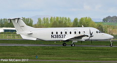 N38537 Beech 1900D Glasgow April 2017 (pmccann54) Tags: n38537 beech1900d