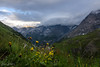 Sunset in the Eastern Alps. On the Stelvio Pass road (Elena Lebedeva) Tags: alps easternalps europe italy southtyrol stelvio clouds landscape mountains nature outdoor summer travel sunset crepuscolo ngc montes