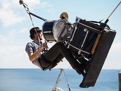 Ellis Grover Flown (real ramona) Tags: flown minack poc circus cornwall drums drummer flying