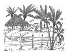Tarwacki Park (rod1691) Tags: sketch bw scifi alien concept custom car retro space hotrod drawing pencil h2 hb original story fantasy funny automotive art illistration greyscale moonpies beatles