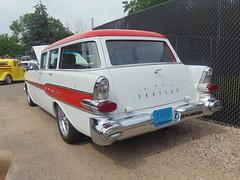 Pontiac Wagon (novice09) Tags: backtothefifties carshow stationwagon 1957 pontiac sooc