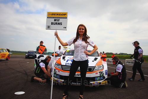 Will Burns on the grid at the Thruxton BTCC weekend, May 2017