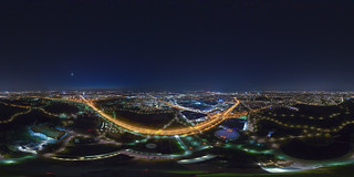 (360x180) Night Munich from above 4
