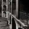 Through the arches (Rob_Nicholson) Tags: street ftpoint sanfrancisco california bw fort historical canon
