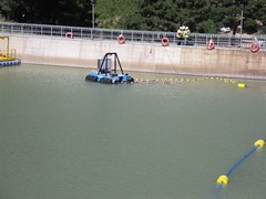 remote controlled mining dredge