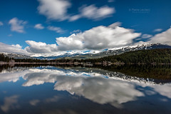 Mountain Range Reflection (PIERRE LECLERC PHOTO) Tags: mountains mountainrange whistlerblackcomb blackcomb wedge wearth mountcurrie rainbowpark altalake reflection spring skiresort bc britishcolumbia canada landscape clouds peaks garibaldimountainrange pacificcoastalmountainrangeoutdoors adventure travel pierreleclercphotography
