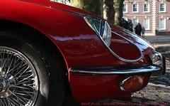 Unmistakeable (Geoff_B) Tags: bristol avenuedivers queensquare jaguar etype red 2017