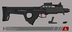 "Quicksilver Industries: ""Narwal"" SMG (Wouter Kroon) Tags: shockwave flickr pmg pimp my gun pimpmygun smg submachine rifle weapon fictional firearm quicksilver industries"