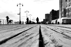 Experiments with perspective (paleyphotos) Tags: perspective boardwalk island coney coneyisland brooklyn nyc urban street monochrome blackandwhite bw blackwhite