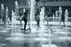 Fountain (VladPL) Tags: fountain water children child monochrome blackandwhite blackwhite bw canon 1dsm2 canon1dsmark2 2470l 2470 kiev fun city podol fall europe town ukraine light spatter people scooter подол украина киев люди фонтан фонтаны дети брызги вода почтоваяплощадь монохром 15000 70mm 70 iso100 move may may2017 flickr canon1dsmarkii