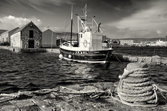 Hay's Dock (scrimmy) Tags: shetland scotland lerwick haysdock harbour port history ship sea blackandwhite monochrome toned