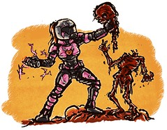 Who says Doomslayers can't be girls? (Catanas) Tags: speedcat doom doomslayer demon artwork cartoon