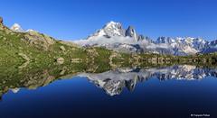Aiguille Verte (francoispobez) Tags: lac see cheserys aiguille verte les drus grande jorasse dent du géant alpes haute savoie france mountain montagne snow ice glacier alpage ngc