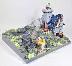 "Guarded Inn (""kofi"") Tags: foitsop castle fantasy castlemoc lego guardedinn mountain mountainpass"