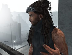 """""""Every man has his secret sorrows which the world knows not; and often times we call a man """"cold"""" when he is only sad."""" (Roy Mildor -5000 Follower, thank you ㋡) Tags: catwa roymildor gabriel nomatch sl secondlife photography portrait hair man guy sad bento"""