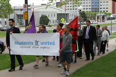 MN College Students March to the Capitol, May 10