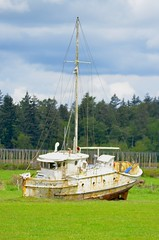 High and Dry (Neal D) Tags: bc langley boat fishingboat