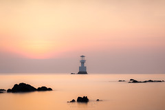 The Lighthouse (Gift of Light) Tags: chonburi thailand samaesarn lighthouse morning sunrise sunlight seascape day longexposure landscape rock sky sonyalpha sony alpha sonya7rii a7rii a7rmkii sonya7rmkii sonyfe70200mmf28gmoss fe 70200mm 7020028 2870200 f28 gm oss